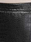 Юбка из искусственной кожи на молнии oodji #SECTION_NAME# (черный), 18H00003-2/49702/2900N - вид 4