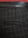 Брюки slim с отделкой из искусственной кожи oodji #SECTION_NAME# (серый), 11701048-1/45709/2559C - вид 5