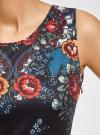Платье приталенное с ремнем oodji для женщины (синий), 14005072-2/18610/7945F - вид 5