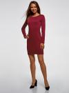Платье базовое облегающего силуэта oodji #SECTION_NAME# (красный), 14011038B/38261/4903N - вид 6