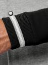 Куртка-бомбер на кнопках oodji #SECTION_NAME# (серый), 5L912040M/48847N/2329P - вид 5