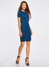 Платье облегающего силуэта на молнии oodji #SECTION_NAME# (синий), 14011025/42588/7901N - вид 6