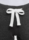 Брюки спортивные с завязками oodji для женщины (серый), 16701010-4/46219/2510Z
