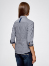 Рубашка с рукавом 3/4 хлопковая oodji #SECTION_NAME# (серый), 11403201-1/43346/7910S - вид 3