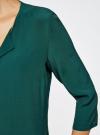Блузка прямого силуэта с украшением oodji #SECTION_NAME# (зеленый), 21404021/43281/6E00N - вид 5