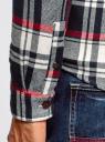 Рубашка клетчатая с капюшоном oodji #SECTION_NAME# (разноцветный), 3L310170M/48840N/1245C - вид 5