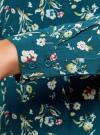 Блузка принтованная из вискозы oodji #SECTION_NAME# (зеленый), 11411087-1/24681/6C41F - вид 5