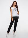 Комплект трикотажных брюк (2 пары) oodji #SECTION_NAME# (черный), 16700030-15T2/47906/2900N - вид 6