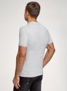 Поло из ткани пике oodji для мужчины (серый), 5B422001M/44032N/2009M