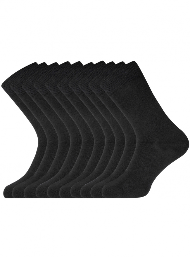 Комплект высоких носков (10 пар) oodji для мужчины (черный), 7B203001T10/47469/2900N