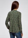 Блузка вискозная прямого силуэта oodji #SECTION_NAME# (зеленый), 21400394-4B/48756/6E54F - вид 3