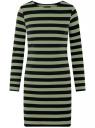 Платье базовое принтованное oodji #SECTION_NAME# (зеленый), 14011038-2B/37809/6629S