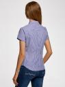 Рубашка хлопковая с коротким рукавом oodji для женщины (синий), 13K01004B/33081/1075S