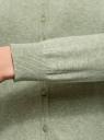 Кардиган вязаный с круглым вырезом oodji для женщины (зеленый), 63212568B/45642/6000M