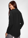 Блузка с нагрудными карманами и регулировкой длины рукава oodji #SECTION_NAME# (черный), 11400355-9B/42807/2900N - вид 3