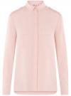Блузка базовая из вискозы с нагрудными карманами oodji #SECTION_NAME# (розовый), 11411127B/42540/4000N