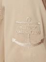 Рубашка с погонами и нагрудными карманами oodji для женщины (бежевый), 13L11015/26357/3300N