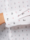 Блузка с нагрудными карманами и регулировкой длины рукава oodji #SECTION_NAME# (белый), 11400355-3B/14897/1029Q - вид 5