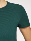 Платье А-образного силуэта в рубчик oodji #SECTION_NAME# (зеленый), 14000157/45997/6900N - вид 5