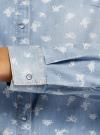 Рубашка джинсовая на кнопках oodji #SECTION_NAME# (синий), 16A09003-2/46361/7012D - вид 5