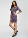 Платье трикотажное с этническим принтом oodji #SECTION_NAME# (разноцветный), 14001064-3/35468/7945J - вид 6