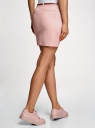 Юбка короткая хлопковая с ремнем oodji #SECTION_NAME# (розовый), 11600397-1B/42307/5400N - вид 3