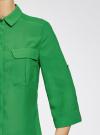 Блузка из струящейся ткани с регулировкой длины рукава oodji #SECTION_NAME# (зеленый), 11403225-1B/45227/6A00N - вид 5