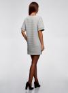 Платье прямого силуэта с карманами oodji #SECTION_NAME# (серый), 14008017-2/46895/2000M - вид 3