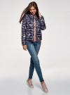 Куртка стеганая с круглым вырезом oodji для женщины (синий), 10204040-1B/42257/7980U - вид 6