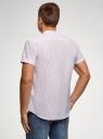 Рубашка хлопковая с коротким рукавом oodji #SECTION_NAME# (белый), 3L400002M/48202N/1245S - вид 3