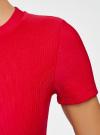 Платье трикотажное с коротким рукавом oodji для женщины (красный), 14011007/45262/4502N - вид 5