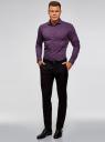 Рубашка приталенная с этническим принтом oodji #SECTION_NAME# (фиолетовый), 3L110343M/19370N/8883E - вид 6