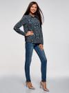 Блузка вискозная прямого силуэта oodji #SECTION_NAME# (синий), 11411098-3/24681/7919E - вид 6