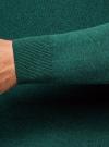 Джемпер базовый с круглым воротом oodji #SECTION_NAME# (зеленый), 4B112003M/34390N/6D00M - вид 5
