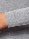 Кардиган удлиненный без застежки oodji для женщины (серый), 63212594/47722/2300M