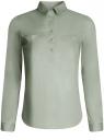 Рубашка базовая с нагрудными карманами oodji #SECTION_NAME# (зеленый), 11403222B/42468/6000N