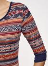 Платье жаккардовое с геометрическим узором oodji для женщины (красный), 14001064-5/46025/3133J - вид 5