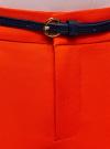 Брюки укороченные с ремнем oodji #SECTION_NAME# (красный), 21701094/33574/4500N - вид 4