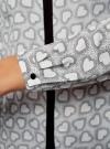 Блузка из струящейся ткани с контрастной отделкой oodji #SECTION_NAME# (серый), 11411059B/43414/1229O - вид 5