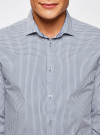 Рубашка приталенного силуэта принтованная oodji #SECTION_NAME# (синий), 3L110260M/19370N/7975G - вид 4