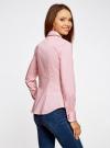 Рубашка хлопковая с металлическими кнопками oodji #SECTION_NAME# (розовый), 21406034-1/42083/4000N - вид 3