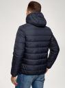 Куртка стеганая с капюшоном oodji #SECTION_NAME# (синий), 1B112027M/33743/7900N - вид 3