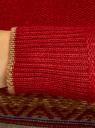 Джемпер вязаный прямого силуэта oodji #SECTION_NAME# (красный), 63807296/43807/4557J - вид 5