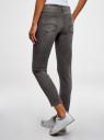 Джинсы skinny со средней посадкой oodji для женщины (серый), 12103167/47548/2300W