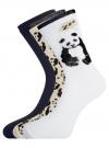 Комплект носков из 3 пар oodji #SECTION_NAME# (разноцветный), 57102905T3/47469/3 - вид 2