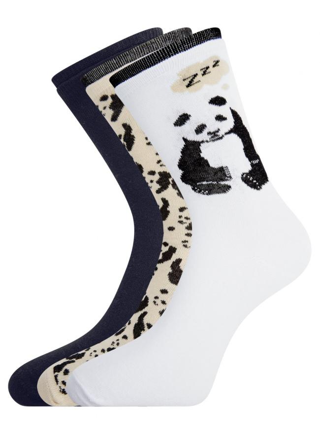 Комплект носков из 3 пар oodji #SECTION_NAME# (разноцветный), 57102905T3/47469/3