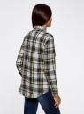 Рубашка в клетку с нагрудными карманами oodji для женщины (белый), 11411052-2/45624/1279C