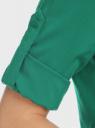 Блузка вискозная с рукавом-трансформером 3/4 oodji #SECTION_NAME# (зеленый), 11403189-2B/26346/6E00N - вид 4
