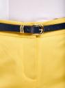 Брюки классические с контрастным ремнем oodji #SECTION_NAME# (желтый), 11705007-1/35319/5100N - вид 5