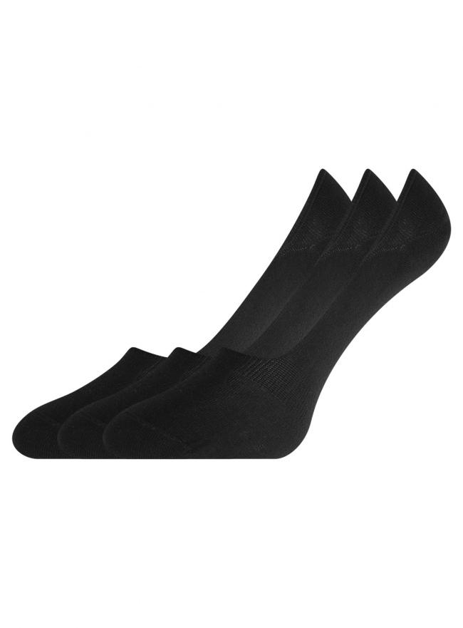Комплект из трех пар носков oodji #SECTION_NAME# (черный), 57102415-1T3/47469/3
